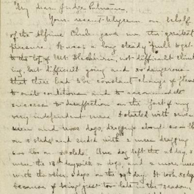 Dora Keen Letter to Putnam