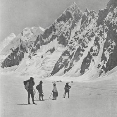 The Workmans at the Rock-Aiguilles