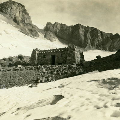 Cabin on Mt. Rainier at Camp Muir. Sleeping accomodations for 25.