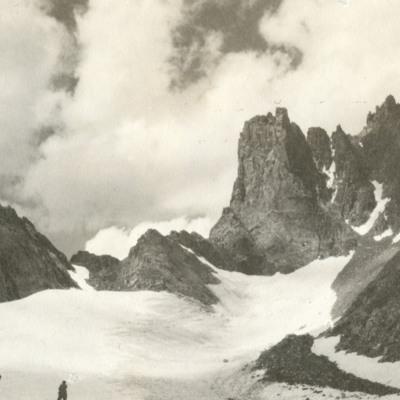 Approaching Cliffs of Harding from Helen glacier
