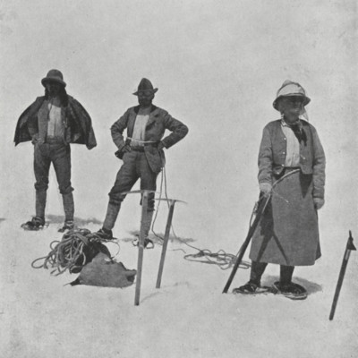 Fanny Bullock Workman in Snow Shoes