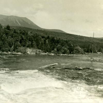 Katadin from dam across West Branch of Penobscot.