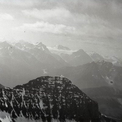 From arete over buttress of Geikie showing Whirlpool