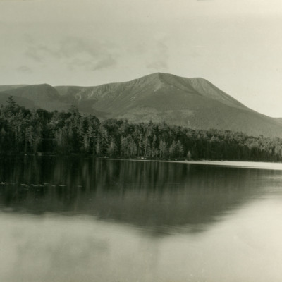 Mt. Katadin, 5273 ft, from Daisy Pond on the west.
