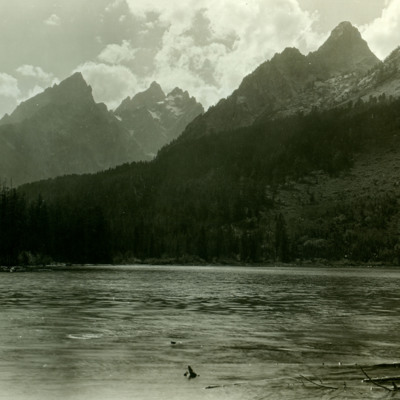 Grand Teton, 13,743 ft, and Jenny Lake.