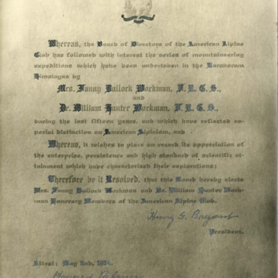 The Workmans Honorary Membership