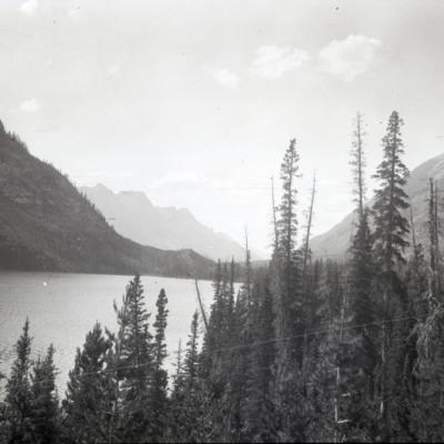 South over upper Spray Lake