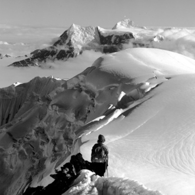 Barbara Washburn on Mt. Bertha