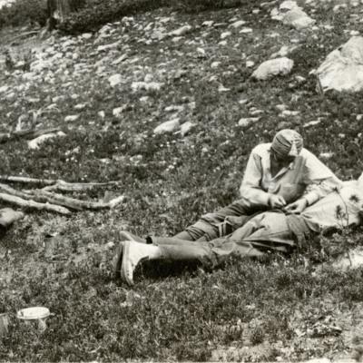 Elmina and Hermann Buhl in Camp.jpg