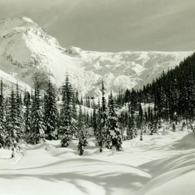 Illecillewaet Glacier in winter.