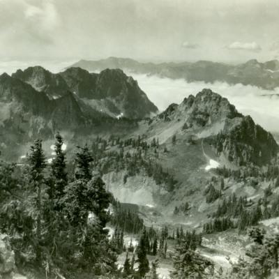 Tatoosh Range from Pinnacle Peak, Mt. Ranier Nat. Park