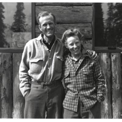 Brad and Barbara Washburn at Park Headquarters