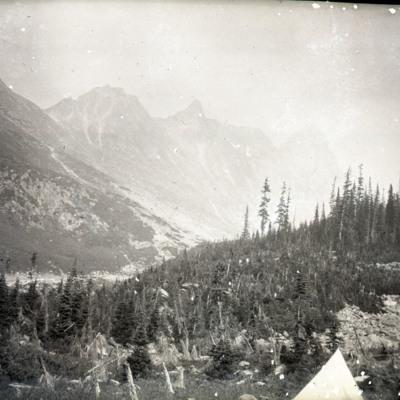 Bishop's camp, Dawson Range, Donkin Pass