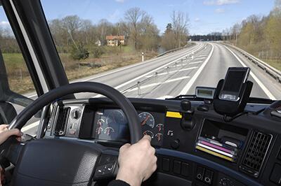 truck driver road