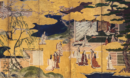 Scenes from the tale of Genji detail