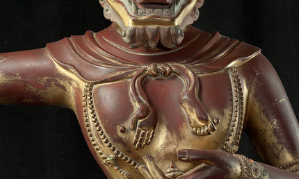 The Buddhist deity Simhavaktra Dakini detail
