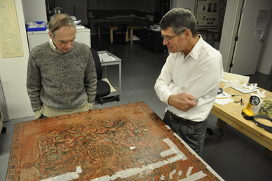 A conservator and curator discuss the planned treatment of this Chinese lacquer table