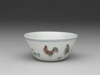 Cup with chicken design