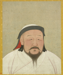 Kublai Khan as the first Yuan emperor Shizu