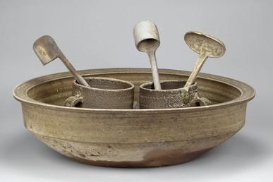 Set of drinking wares unearthed from Tomb 9 Dayun Mountain Xuyi Jiangsu