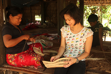 Baskets of Cambodia founder and weaver