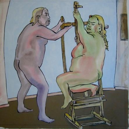 Piirustuksia sarjasta Aarne ja Arja (62 osaa)