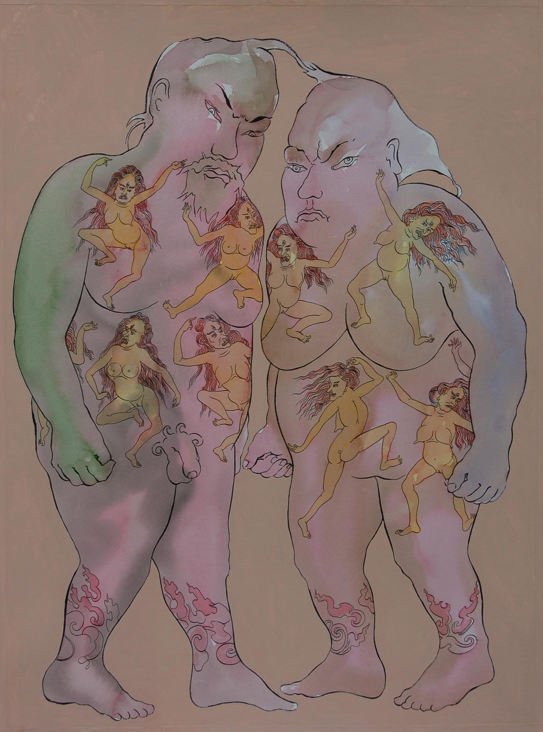 Piirustus sarjasta tatuoidut (16)osaa