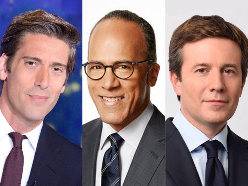 ABC's World News Tonight with David Muir has been consistently topping NBC  Nightly News with Lester Holt among total viewers for several months.