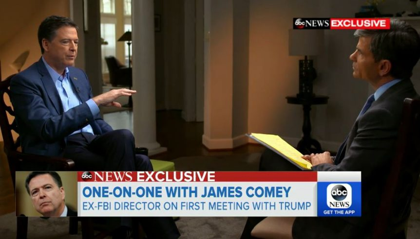 George Stephanopoulos Interview With With Former Fbi Director James Comey Comeys First Before His Book Goes On Sale Tomorrow Averaged A Tujuh
