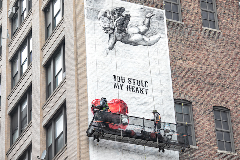 Keep an Eye on This Valentine's Day Mural on 29th St. and 6th Avenue