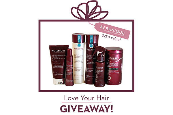 Keranique Love Your Hair Giveaway
