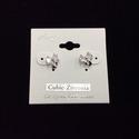 Cubic Zirconia Bow Earring