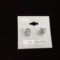 Cubic Zirconia Circle Earring