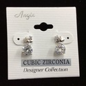 Cubic Zirconia Heart Earring