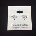 Cubic Zirconia Evil Eye Earring