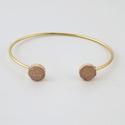 Circle Druzy Cuff Bracelet