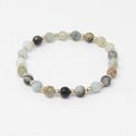 Semi Precious Beads Stretch Bracelet