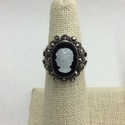 Marcasite Cameo Ring