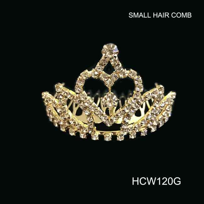 Small Rhinestone Hair Comb