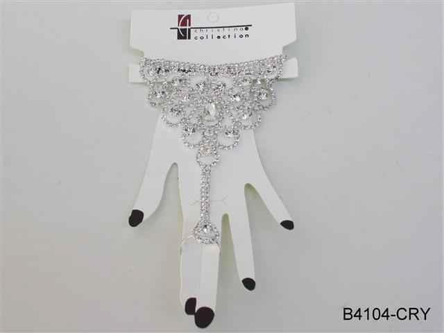 Rhinestone Bracelet & Ring
