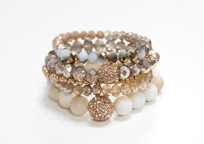 Glass Bead Stretchh Bracelet