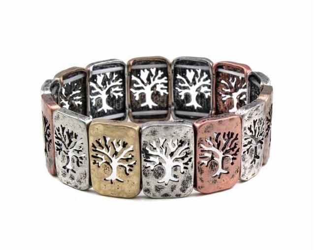 Tree Metal Bracelet