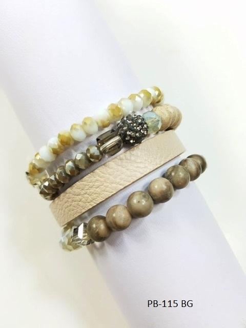 Beads & Leather Bracelet