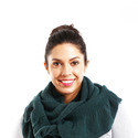 Solid Ruffle Infinity Scarf