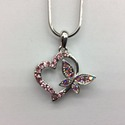 Heart with Butterfly  Pendant