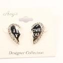 """I Love You"" Heart Earrings"