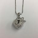 Heart w/ Lock and Key Pendant