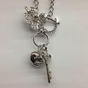 Clover,Heart & Key Pendant