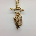 Lock,Key & Wing Pendant