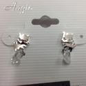 Zirconia Cat Earring